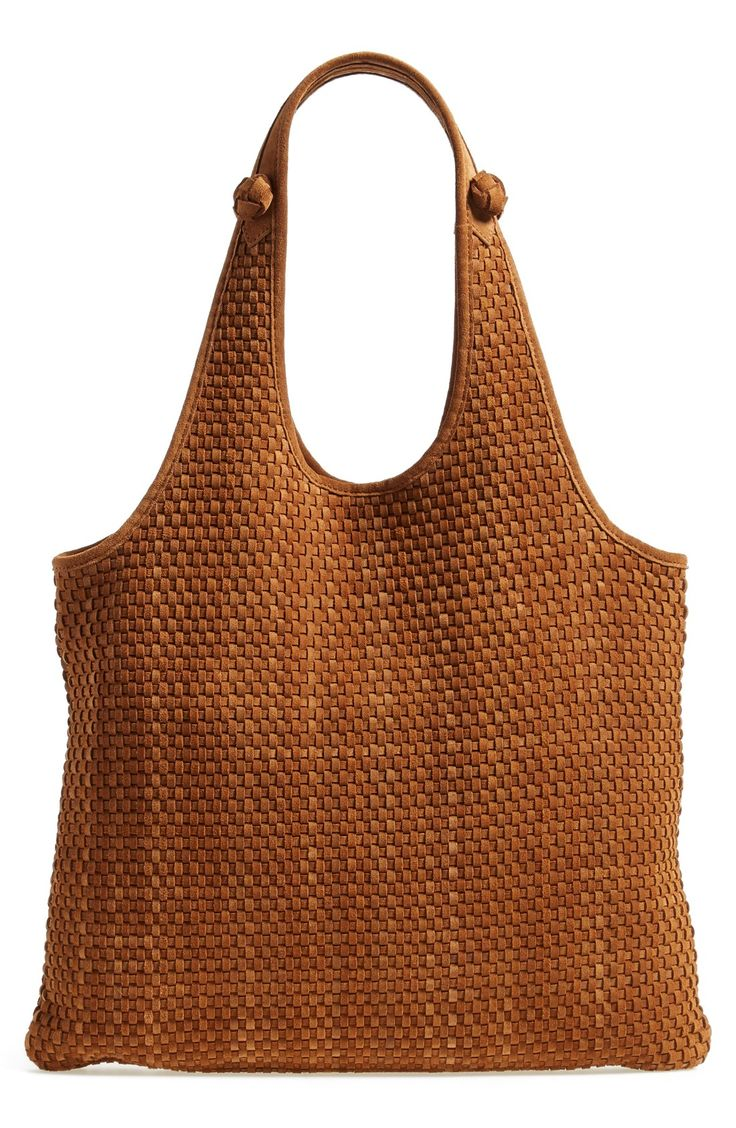 Elizabeth and James 'Zoe' Woven Leather Shopper