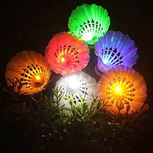 LED Shuttlecock Badminton, Inngree [6 Pack] 6 Color Shuttlecock Dark Night Glow | Sporting Goods, Tennis & Racquet Sports, Badminton | eBay!
