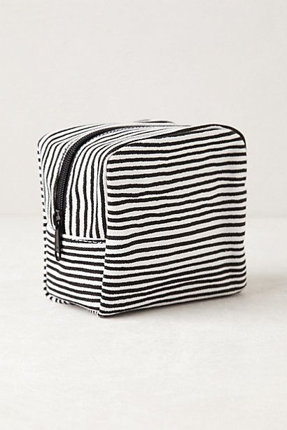 Maidengrass Cosmetic Pouch in Dark Grey $24 // Anthropologie