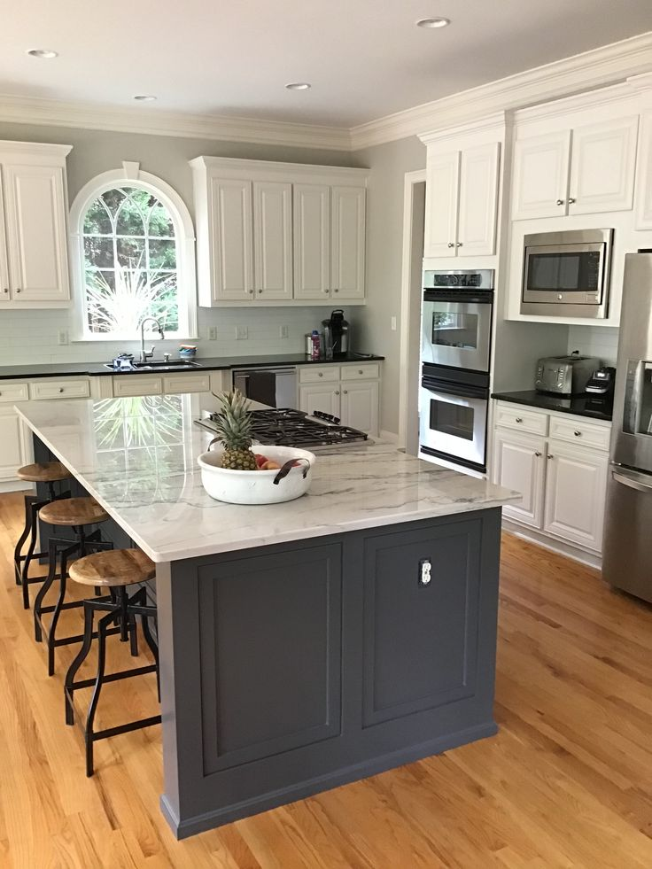 SW Peppercorn island, SW Incredible White cabinets, SW ...