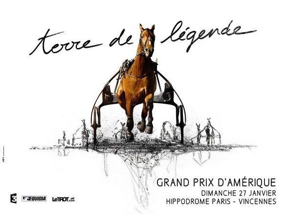 www.pegasebuzz.com/leblog   Horse in Advertising // Affiche Grand Prix d'Amérique Marionnaud 2013 : Terre de Légende