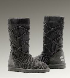 UGG Classic Argly Knit 5879 Grey For Sale In UGG Outlet | best stuff,