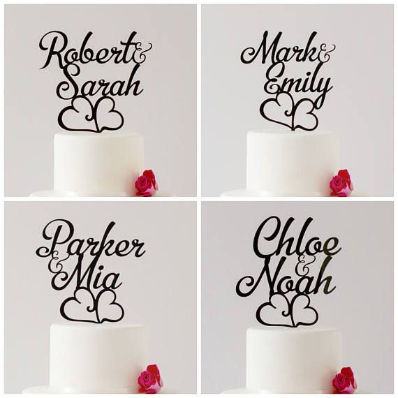 ON SALE First name Topper Custom Cake Topper Personalized
