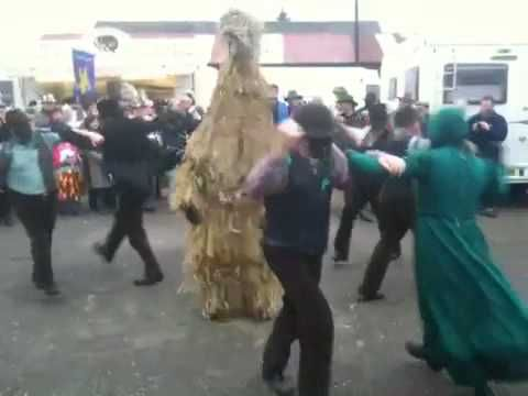Whittlesey Straw Bear Dances with Old Glory