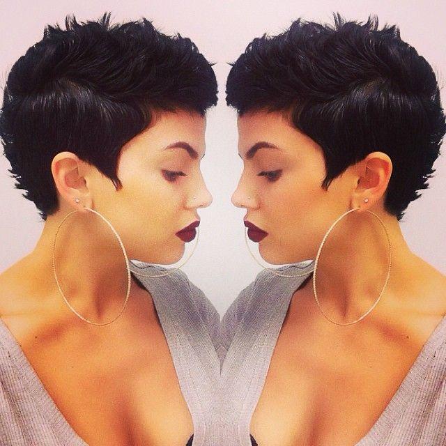 Short Hair, Dark Lips