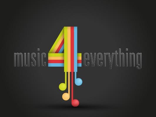 """Logo """"Music4everything"""""""