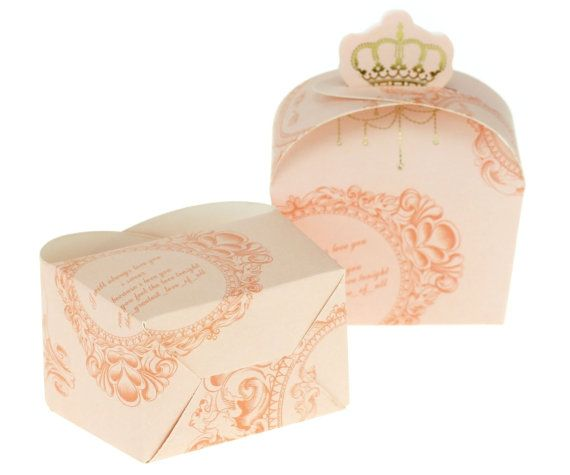 Crown Princess Love Bonbonniere Boxes  Wedding Party by TypeWright