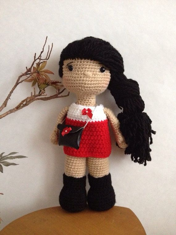 16 Handmade crochet doll by OffDHookCreations on Etsy ♡