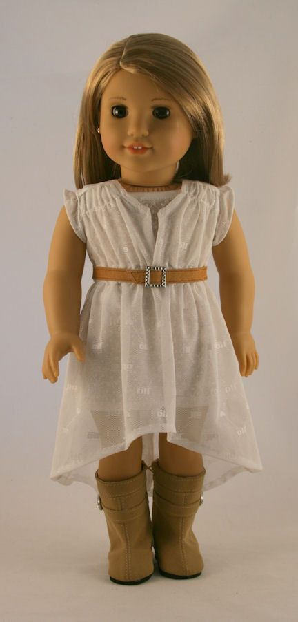American Girl Doll Clothes White Mesh Woomera by