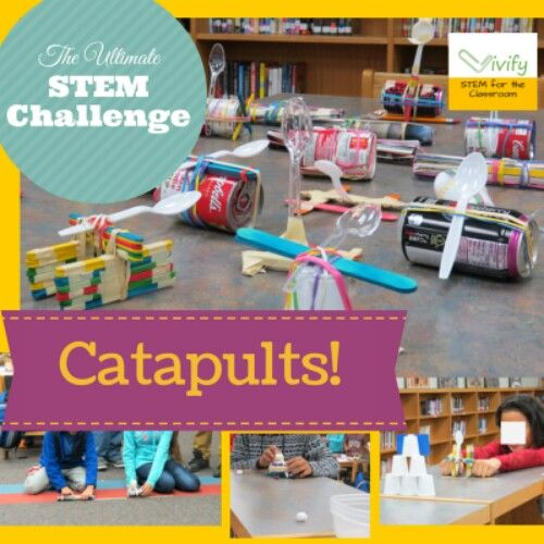 The Catapult STEM Challenge incorporates all aspects of a quality STEM activity: easy math connection, engineering design process, student-driven learning, and hands-on fun! Read on to see my ideas to incorporate into your classroom or to download our TpT Catapult STEM Challenge! http://www.vivifystem.com/blog/2014/12/23/catapult-challenge