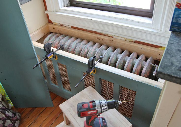 build a window seat with radiator - Google Search