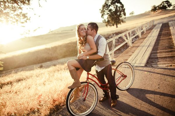 This is exactly what we do when we ride the old bike together :) How perfect!