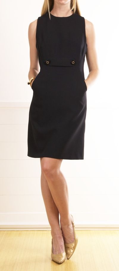 Can never have too many classic black work dresses.  Love this style.