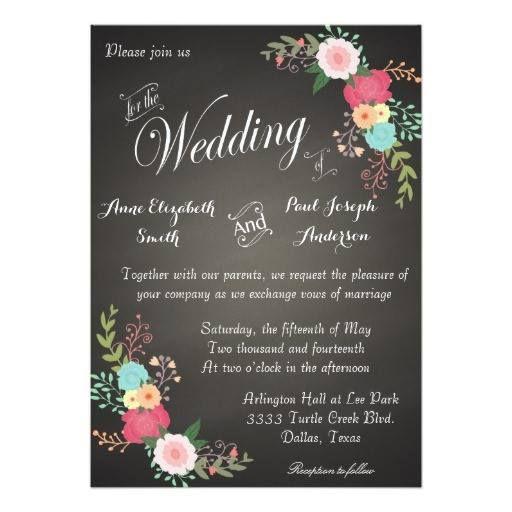 #weddinginvitation #weddinginvitations (Chalkboard floral wedding invitations) #BarnWedding #BlackAndWhiteWeddings #Blackboard #ChalkLettering #Chalkboard #ChalkboardWedding #ChicCountryWeddings #CountryWedding #ElegantVintageWedding #FancyRetroTypography #FloralChalkboardWedding #ModernWeddingTrends #Ornate #RusticPaintedFlowers #RusticWedding #SlateGray #SpringSummerFallWinterWeddings #VintageWedding #WoodWedding is available on Custom Unique Wedding Invitations  store…