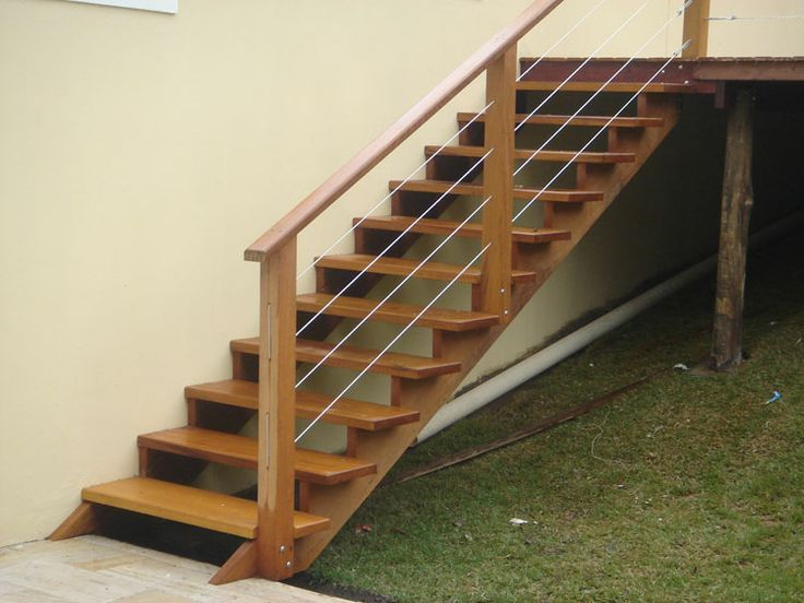 escadas externas de madeira - Pesquisa Google                              …