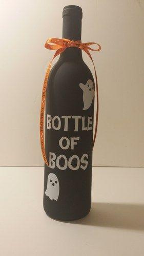 Bottle of Boos Halloween Wine Bottle   JoesCraftShack - Novelty on ArtFire