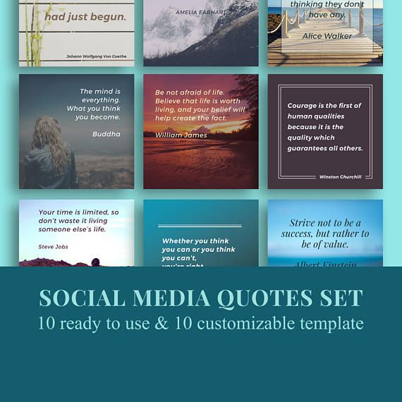 Social media templates / instagram quotes /quotes templates / facebook templates / inspirational quotes