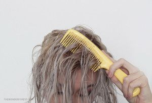 Home made hair toner