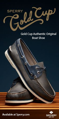 fc1ab6f37ee0 Sperry Men's Gold Cup Authentic Original 2-Eye Roustabout Boat Shoe, Grey