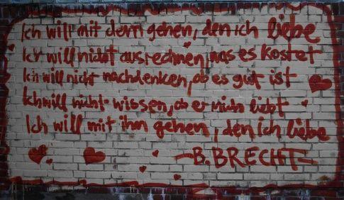 Bertold Brecht, Ich will mit dem gehen, den ich liebe