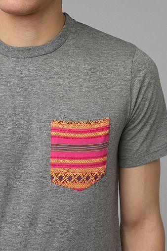 Koto Jacquard Pocket Tee - Urban Outfitters. $24.00. #fashion #men #tee