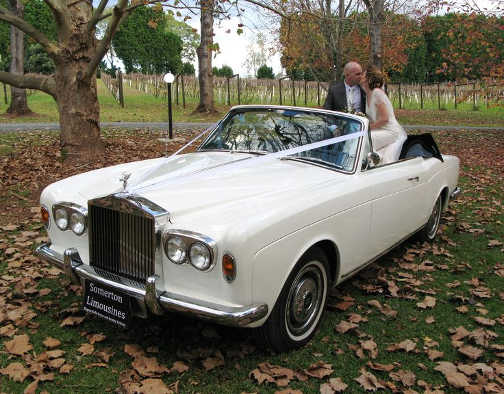 Somerton Limousines' Rolls-Royce convertible Corniche (Katie).