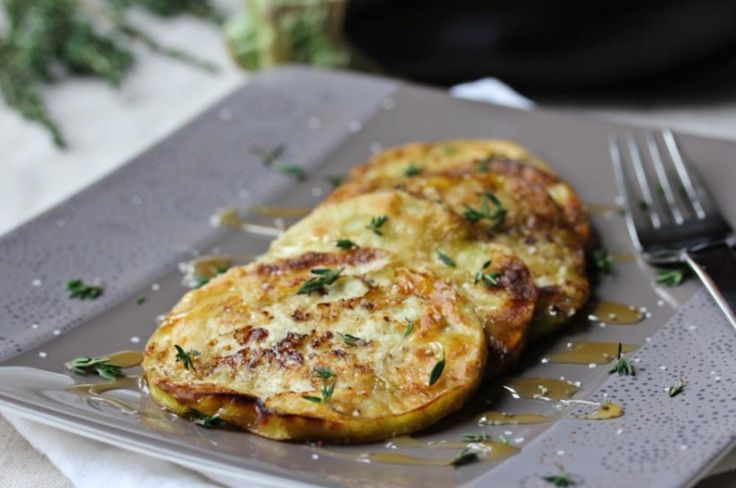 PAN FRIED EGGPLANT WITH HONEY AND THYME