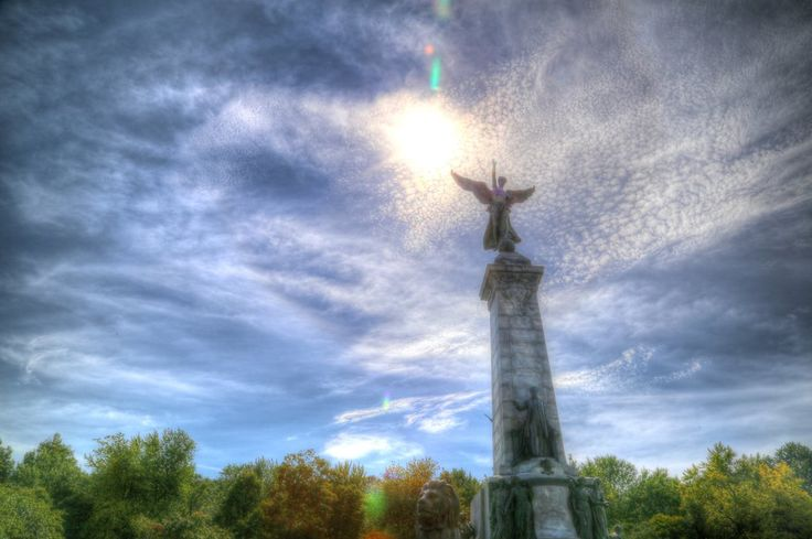 Angelic statue HDR