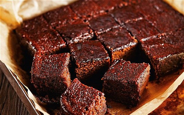 dark and sticky gingerbread with a whiskey glaze -  A dense gingerbread cake, rich with spices, that's perfect for teatime. (I can see that I'm going to have to get out my scale for this, but it looks worth it.)