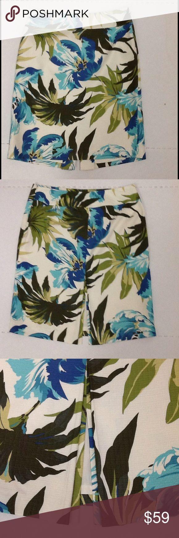 Tropical Skirt size 8 Ann Taylor Loft Career Lined skirt with side zipper by Ann Taylor Loft. Ann Taylor Loft Skirts A-Line or Full
