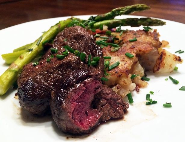 Pan Seared Elk with Rosemary Smashed Potatoes (Recipe) | Outdoor Channel