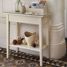 #thedormyhouse The little touches can make a simple side table into a talking piece.