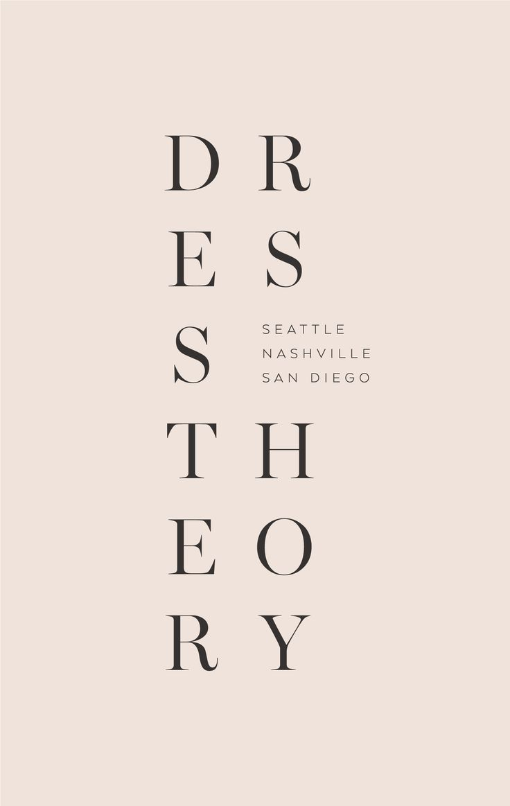 """This is supposed to read: """"Dress Theory"""", but my brain sees the word """"Destroy"""" and a misspelling of """"Dysentery."""""""