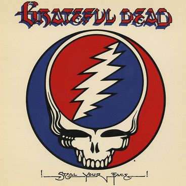 Appearing on The Grateful Dead's 1974 live double album 'Steal Your Face', it was a GD roadie who came up with the idea for the logo. He saw a similar design on a road sign and thought it would be a good motif to print on the band's equipment as a way of identifying it.