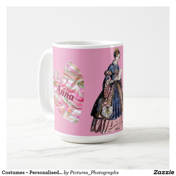 Costumes ~ Personalised ANNA ~ Valentine's Day Coffee Mug