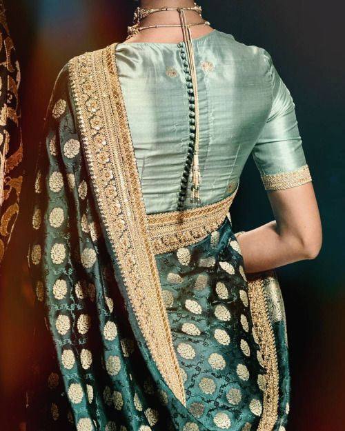 Saree Blouse Designs: Saree Blouse Design Back - The Button Affair