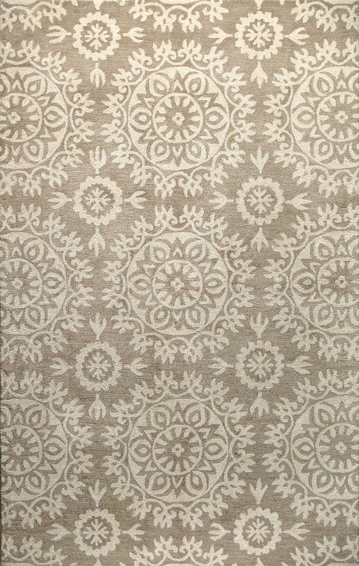 Norwalk Taupe Floral Area Rug