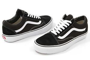 Vans Old Skool Black/White and Navy Low Top Canvas Classic Shoe   | eBay