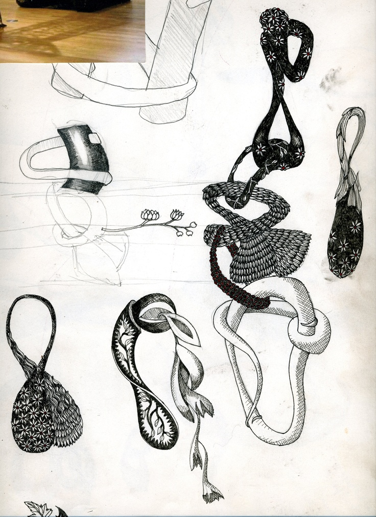 Black gold chain , design development