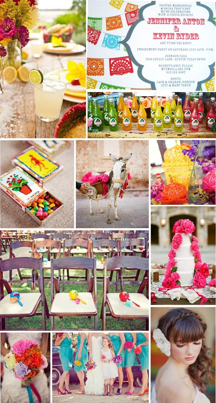 a Papel Picado Mexican inspired wedding, inspiration board designed by www.thesimplifiers.com (The Simplifiers: Event Planning - Austin, TX)