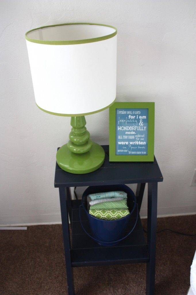 need to spray paint existing lamp green and get a new shade - like this style.