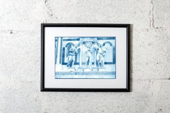 Florence Italy cyanotype print of di PhotographyArtWork #cyanotype #print #art #artdeco #walldeco #cottagedeco #florence #tuscany #architecture #italy #madeinitaly