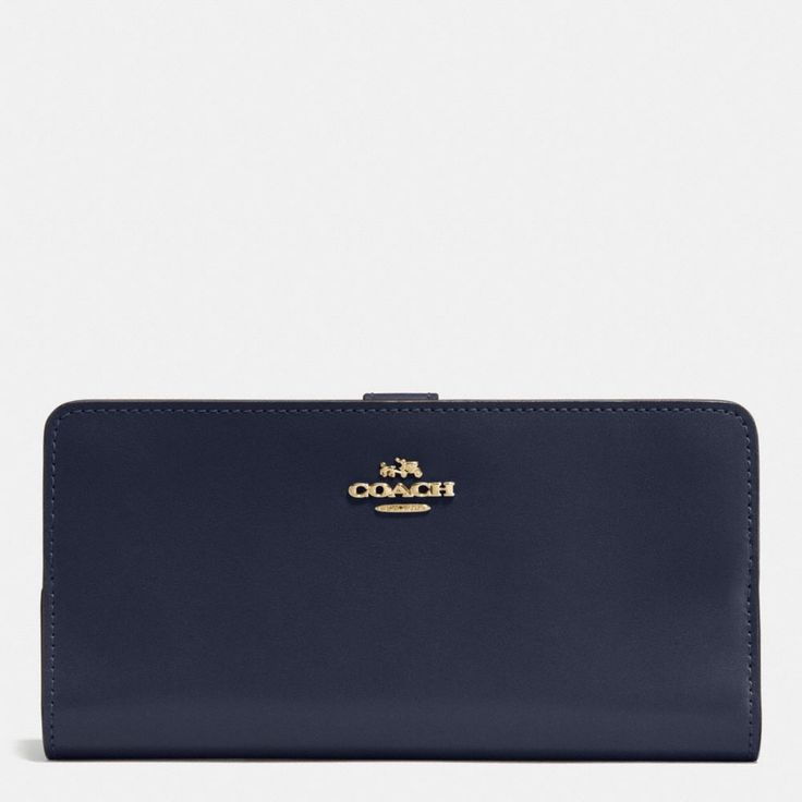 COACH Skinny Wallet In Refined Calf Leather. #coach #leather
