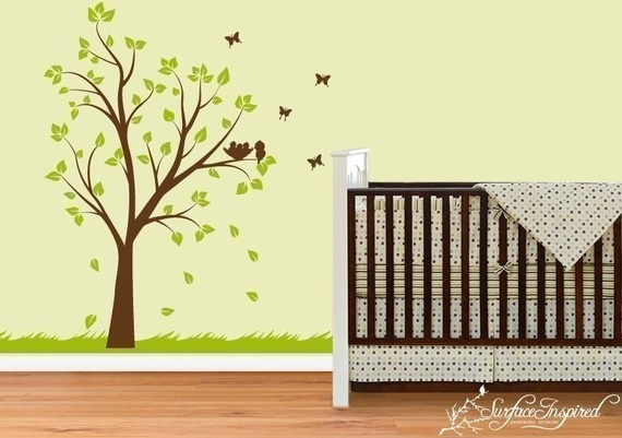 treeWall Art, Nurseries Trees, Nurseries Colors, Tree Wall Decals, Baby Art, Trees Decals, Kids Wall Decals, Baby Room, Trees Wall Decals