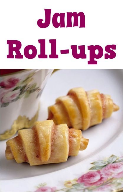 Jam Roll-ups Recipe! #pasty #recipes Jen's note: This would be super-simple to make using Pillsbury crescent rolls.