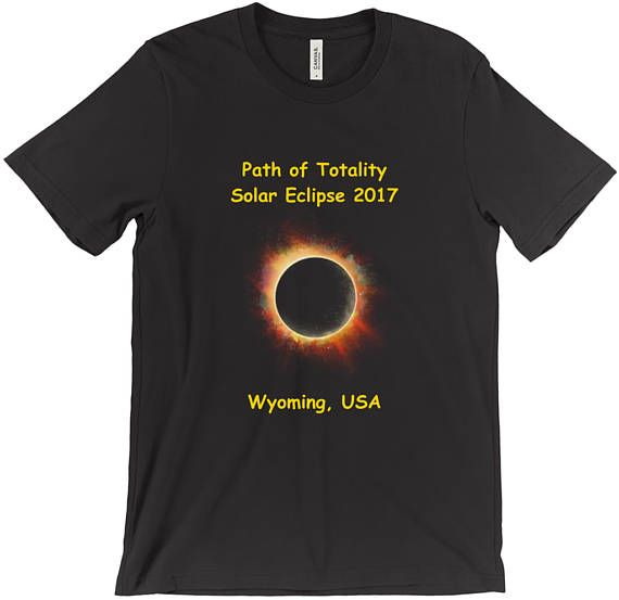 Solar Eclipse 2017 Path of Totality T-Shirt Wyoming WY