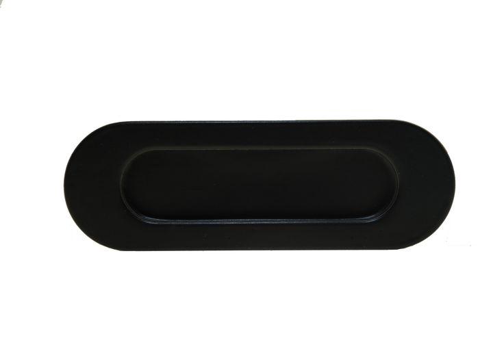 Mooie RVS schuifdeurgreep zwart gepoedercoat.