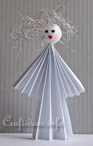 Free Paper Craft Idea for Christmas - Paper Angel Ornament