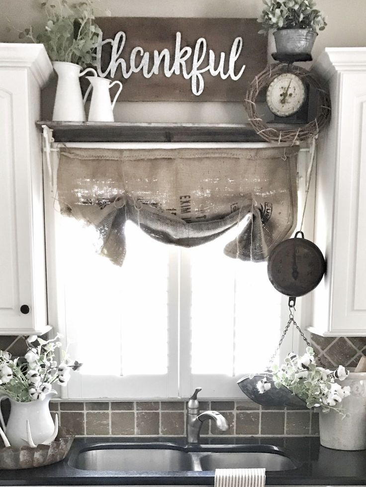 DIY Easy Burlap Sack Curtains