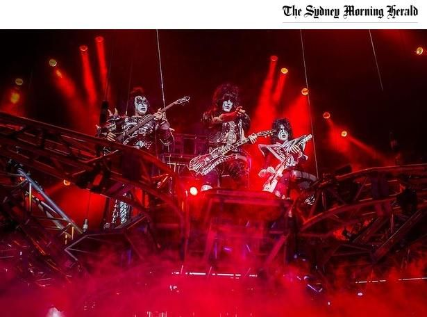 KISS are on fire both figuratively & thanks to pyrotechnics occasionally literally. #Brisbane http://tinyurl.com/qcdtozf